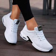 Women's Fabric Flat Heel Flats Low Top Round Toe Sneakers With Lace-up Solid Color shoes