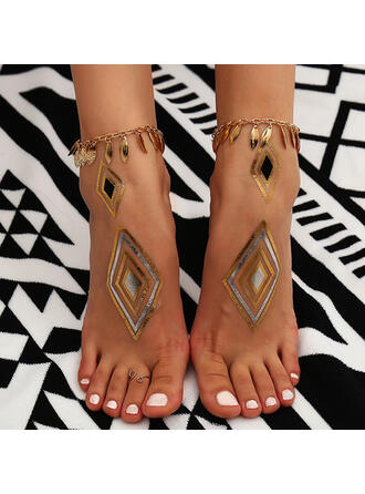 Unique Stylish Metal With Gold Plated Women's Ladies' Girl's Anklets