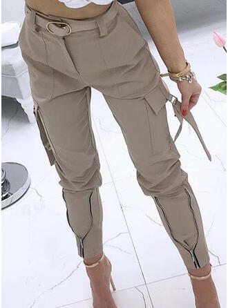 Solid Shirred Plus Size Casual Sexy Tribal Pants
