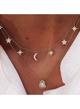 Unique Stylish Cool Alloy With Star Moon Women's Ladies' Girl's Necklaces