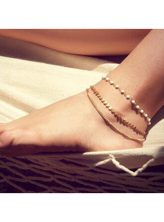 Fashionable Classic Simple Gold Plated With Gold Plated Women's Ladies' Anklets 1 PC