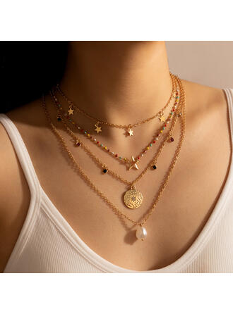 Beautiful Pretty Round Alloy Women's Ladies' Girl's Necklaces