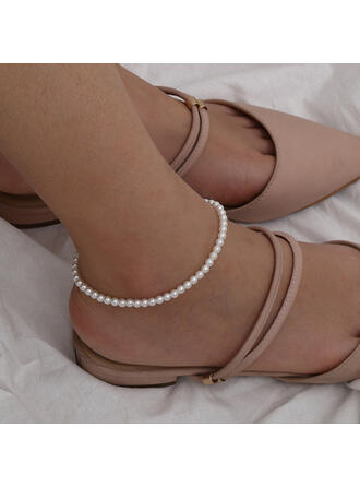 Fashionable Classic Simple Imitation Pearls With Imitation Pearl Women's Ladies' Anklets 1 PC